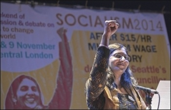 'Last November I heard Kshama Sawant at Socialism 2014', photo Paul Mattsson