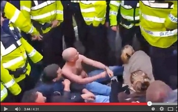 Socialist Party TD Paul Murphy being attacked by police on water charges protest