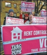 Waltham Forest TUSC campaigners call for rent control, photo Waltham Forest TUSC