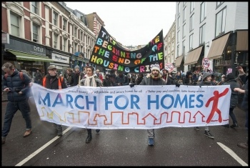March for Homes, London, 31st January 2015, photo Paul Mattsson