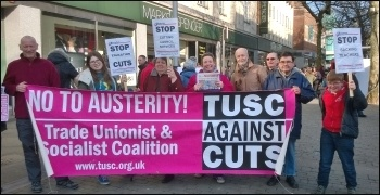 TUSC campaigners in Swansea, 7.2.15