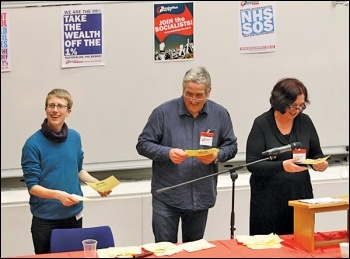 The Fighting Fund appeal at 2015 Socialist Party congress, photo by Senan