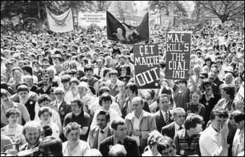 Miners rally in Wales, April 1984, photo by D Sinclair