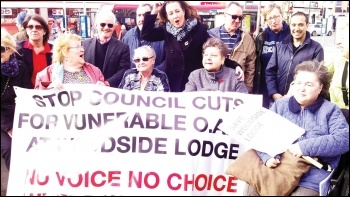 Protesting against cuts to care homes by Southampton council, photo by Nick Chaffey