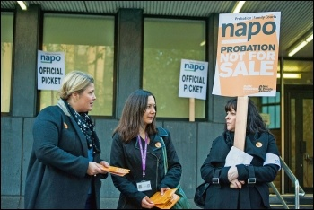 Napo members striking against privatisation in 2013, photo Paul Mattsson