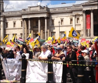 PCS rally in support of National Gallery strikers, 30.5.15, photo J Beishon