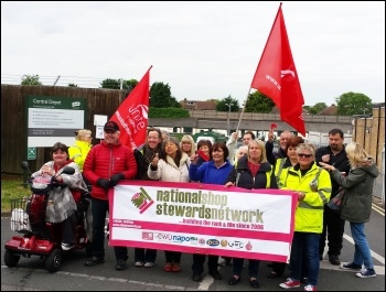 The NSSN supporting the Bromley anti-privatisation struggle, June 2015, photo Rob Williams
