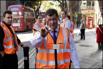 Royal Mail managers intimidating striking workers, photo Paul Mattsson