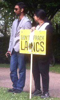 Protesting against fracking, Lancs June 2015, photo by Dave Beale