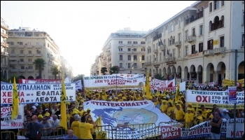 Greek anti-austerity demonstration in 2012, photo Piazza del Popolo (Creative Commons)