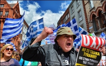 Greeks campaigning for