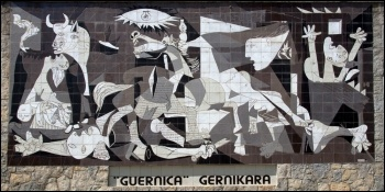 A mural of Picasso's anti-war work 'Guernica', photo by Tony Hisgett (Creative Commons)