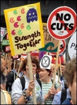 PA anti-austerity demo, 20.6.15, photo Judy Beishon