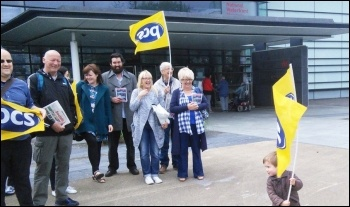 Picket at the Swansea Waterfront Museum, photo by Kate Jones