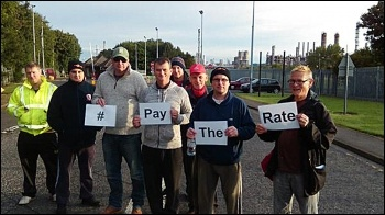 Pay the rate protesters in Teesside, photo by Socialist Party