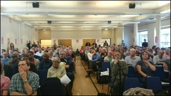 TUSC conference, 26.9.15 , photo by Dave Nellist