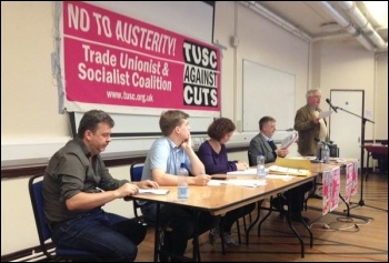 TUSC conference, 26.9.15, the platform for the debate on the EU; John Reid speaking