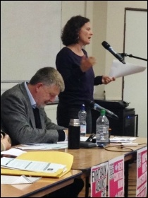 TUSC conference, 26.9.15, Hannah Sell speaking