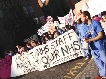 NHS workers marching in Manchester, 4.10.15, photo Sarah Wrack