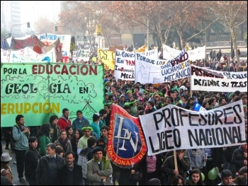 Students march in Chile, photo by Wikimedia Commons (Creative Commons)