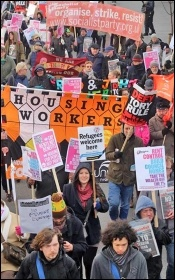 Housing Action 'homes for all' organised by Waltham Forest trades council, photo by Senan