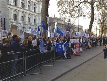Student nurses demonstrating, London 2.12.15, photo Paula Mitchell