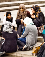 Young Muslim women, credit: Garry Knight (Creative Commons)