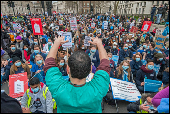 Junior doctors' demonstration, London, 6.2.16, photo by Paul Mattsson