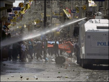 Police attack a protest in Turkey, photo Lindsay T (Creative Commons)