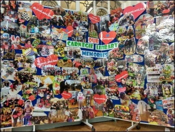 Carnegie Library in Lambeth, memories board, April 2016, photo by James Ivens