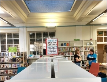 Carnegie Library in Lambeth, April 2016, photo by James Ivens
