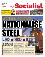 The Socialist issue 896 front page