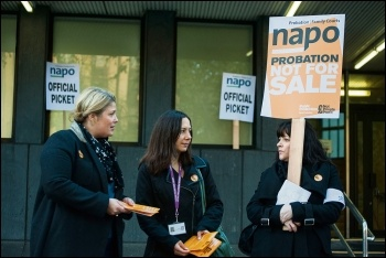 Strikes against the earlier privatisaiton of probation, photo Paul Mattsson