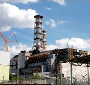 Reactor number four at the Chernobyl site in 2014