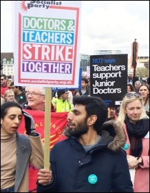 Joint London BMA-NUT demo, 26.4.16, photo Senan