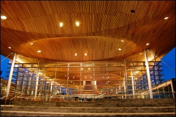 The Welsh Assembly Senedd building, photo by nfophotography (Creative Commons)