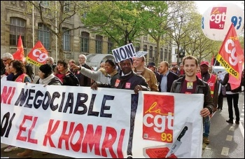 Part of the demo in Paris, 28.4.2016, photo by Naomi Byron
