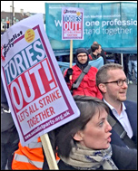 Joint junior doctors and NUT demonstration, photo by Senan