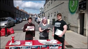 TUSC campaigning in Cardiff, photo Ross Saunders