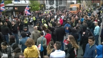 Demonstration against Britain First photo Leicester Socialist Party