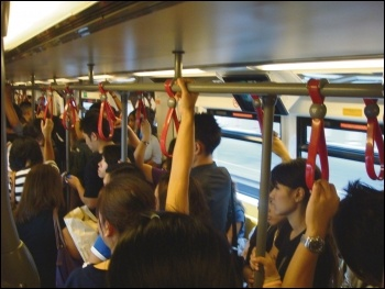 Commuter trains are packed, unreliable and overpriced, photo Kurtis Garbutt (Creative Commons)