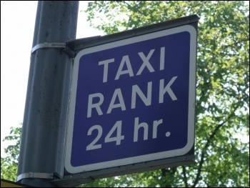 Nottingham Taxi drivers have unionised to fight the removal of a station taxi rank, photo by Elliott Brown (Creative Commons)