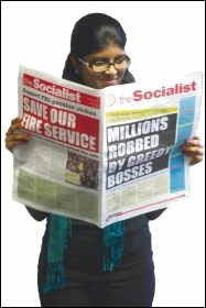 The Socialist carries the best news, analysis and strategy the workers' movement has to offer, photo Socialist Party