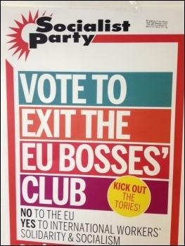 Socialist Party poster, EU referendum, June 2016