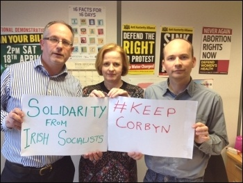 Anti-Austerity Alliance TDs in the Irish parliament, of the Socialist Party in Ireland, backed Corbyn's anti-austerity stand - now he must take the fight to the establishment internationally