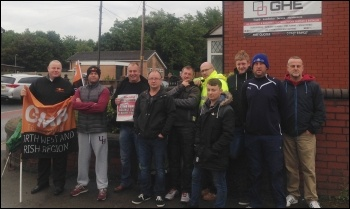 Reland picket line photo Andy Ford