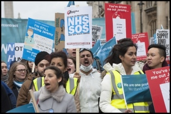 Junior doctors march during the last wave of strike action photo Paul Mattsson