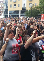 Rally supporting Jeremy Corbyn, Hull