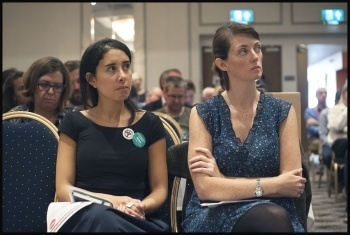 Doctors Mona Kamal and Aislinn Macklin-Doherty, NSSN rally 11.9.16, photo by Paul Mattsson