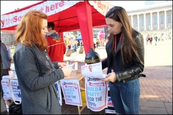 The Socialist Party needs funds to pay for leaflets and other campaigning material among other things, photo Samantha Smith, photo Samantha Smith